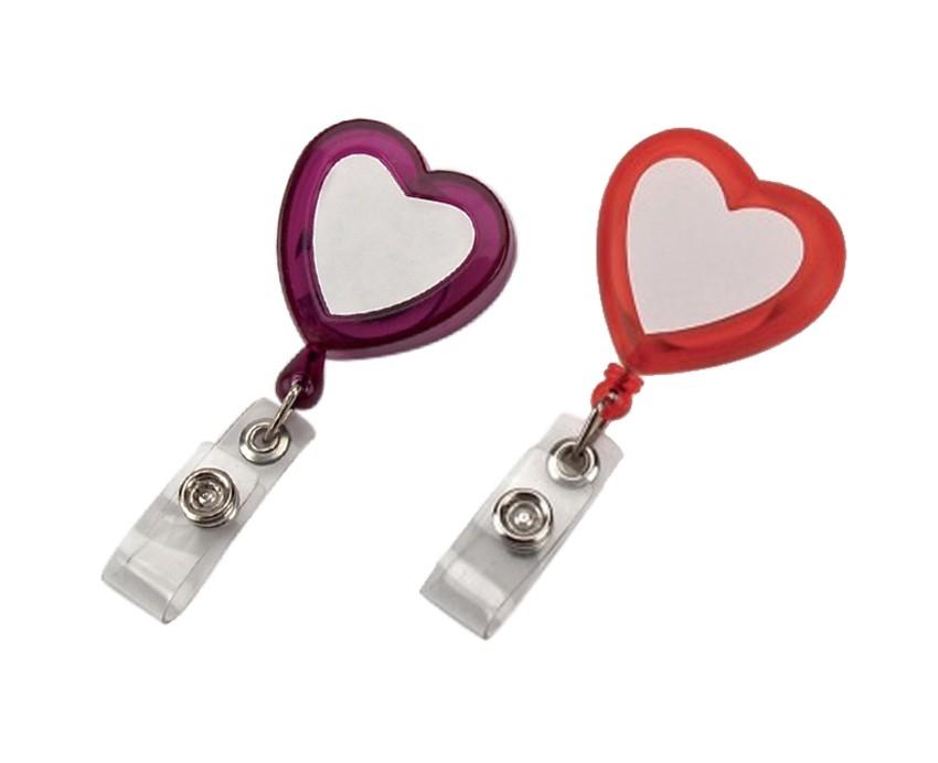 Love-מחזיק לתג עובד לב עם חוט משיכה קפיצי