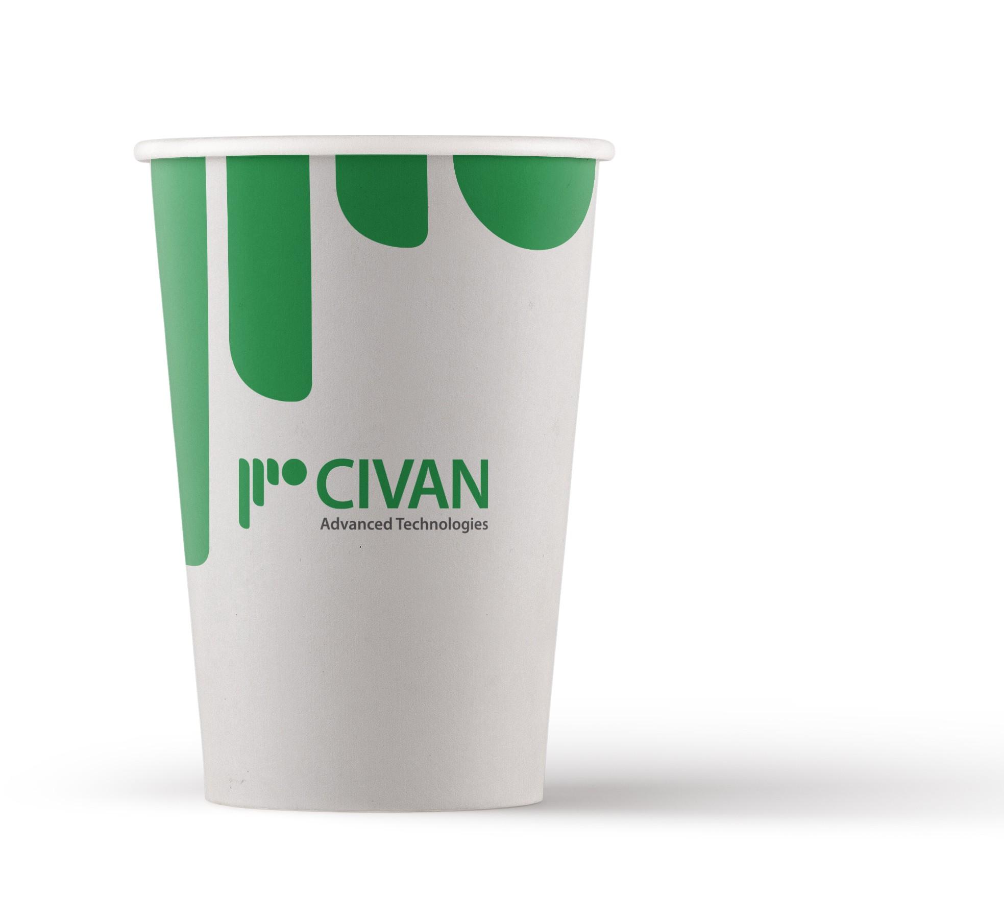 כוסות קרטון ממותגות לשתיה חמה