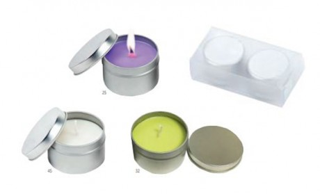 סנדאי-זוג נרות ריחניים בקופסת פח,ריחות לוונדר, וניל ובמבוק