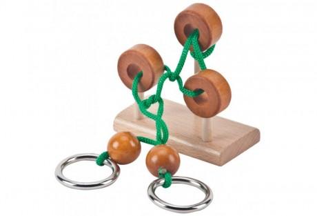 טופסי-משחק מנהלים, מבוך טבעות עץ, מתכת וחבל