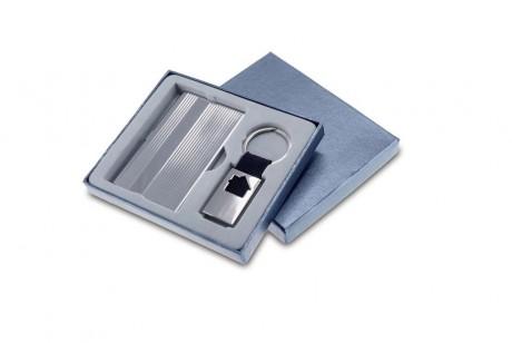 קאסה - סט מחזיק מפתחות בית ממתכת וקופסת כרטיסי ביקור