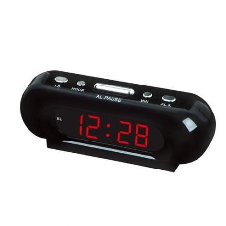 שעון מעורר חשמלי עם סוללת גיבוי. גודל 16 ס